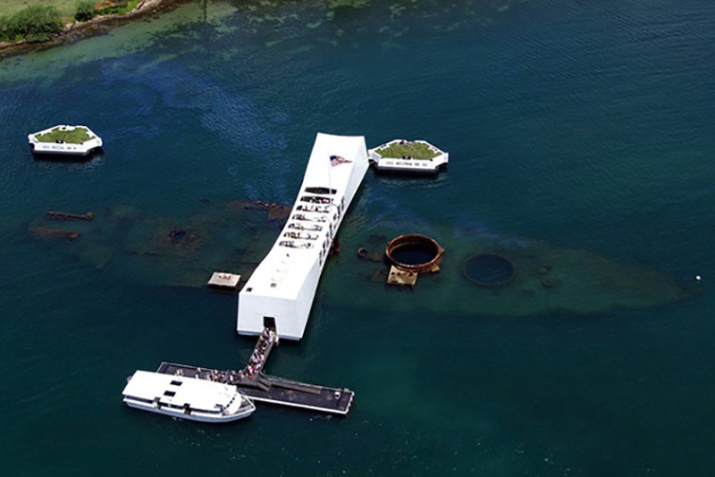 Discover Hawaii Tours Pearl Harbor USS Arizona Aerial